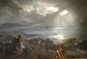 300px-'Battle_of_Clontarf',_oil_on_canvas_painting_by_Hugh_Frazer,_1826