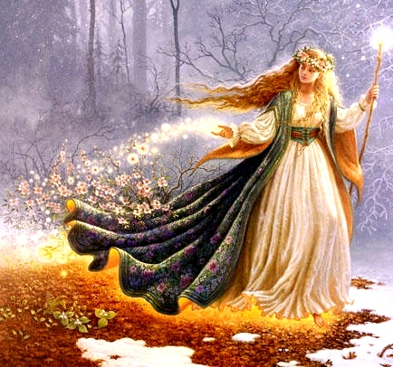 Image of the goddess Brigid