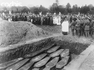 Mass Funeral Service for Lusitania Victims