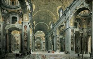 Inside Saint Peter's Basilica, Rome
